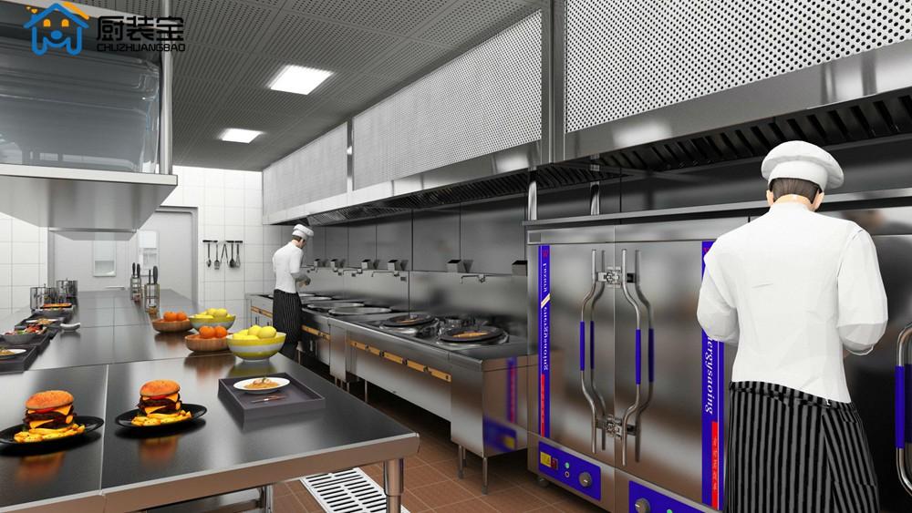 餐饮厨房烹饪间设计效果