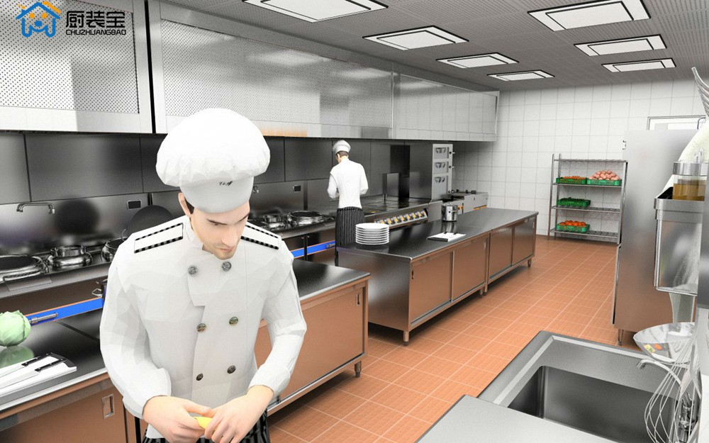 酒店后厨VR设计效果展示图