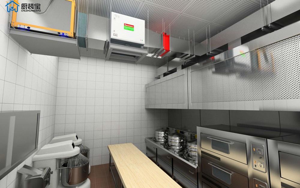 中餐馆配餐间设计效果图