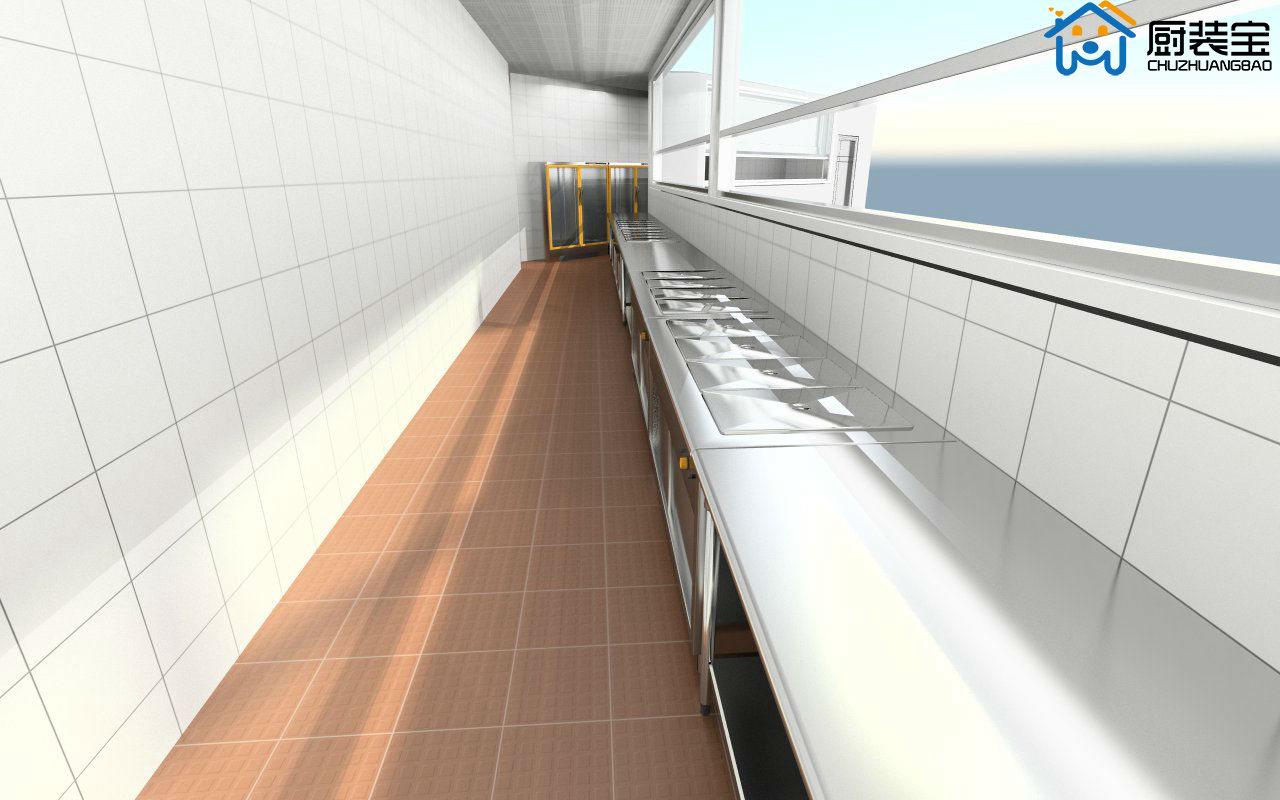 工厂食堂厨房设计效果图