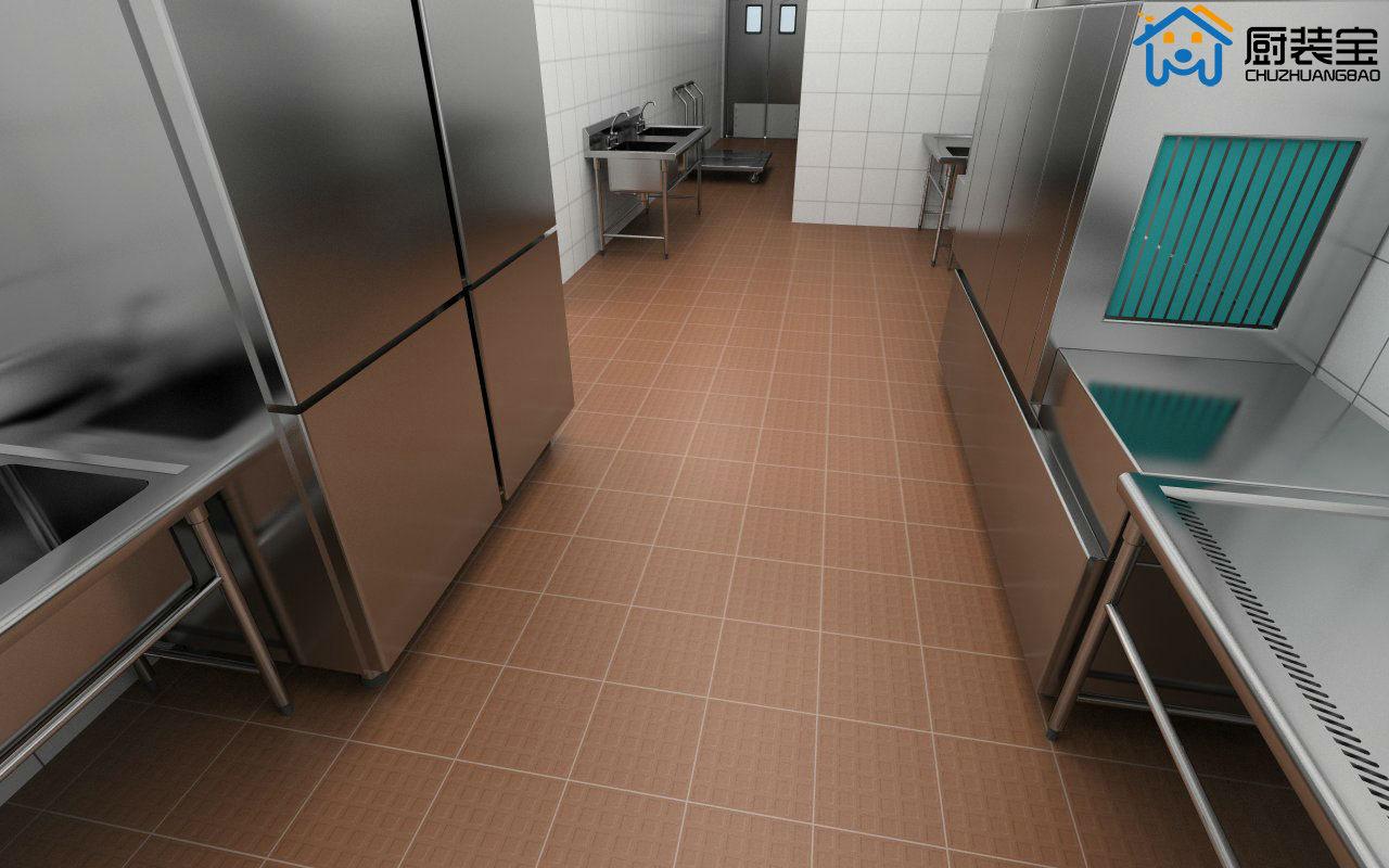 商用厨房设计效果图