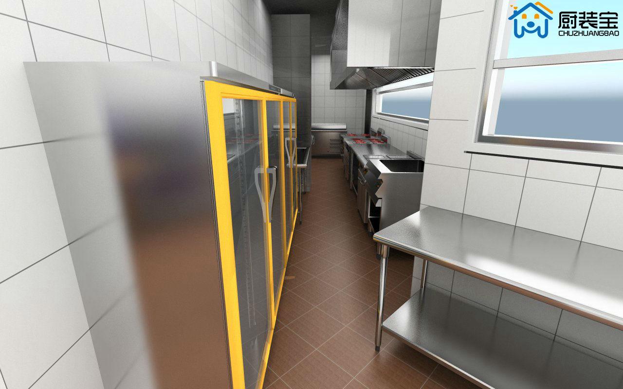 学校食堂厨房设计效果图